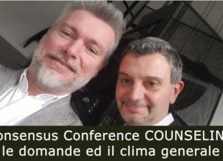 Consensus Conference COUNSELING: le domande ed il clima generale