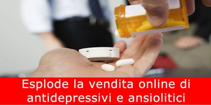 Esplode la vendita online di antidepressivi, ansiolitici e antidolorifici