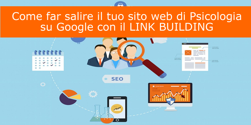 Sito web di psicologia salire su google con il link building for Google house builder