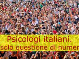 Psicologi italiani. E' solo questione di numero?