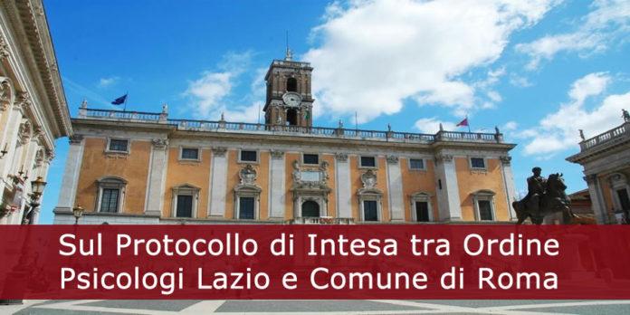 Sul Protocollo di Intesa tra Ordine Psicologi Lazio e Comune di Roma